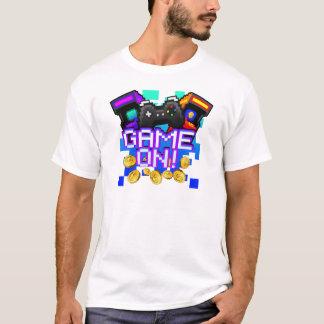 Camiseta Jogo sobre! O t-shirt branco dos homens