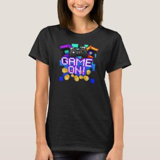 Camiseta Jogo sobre! O t-shirt escuro das mulheres