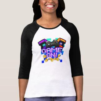 Camiseta Jogo sobre! T-shirt do Raglan das mulheres