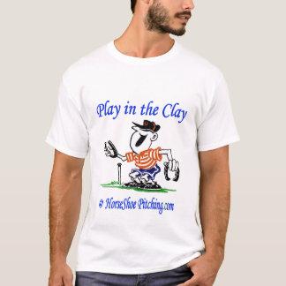 Camiseta Jogo unisex das ferraduras na argila T