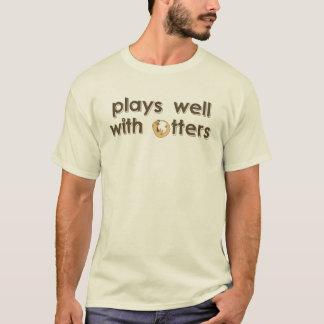 Camiseta jogos bem com lontras