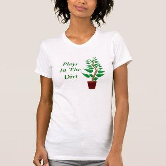 Camiseta Jogos no passatempo engraçado do jardim da planta