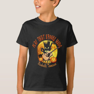 Camiseta Jogue o t-shirt assustador desse miúdo de