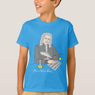 Camiseta Johann Sebastian Bach desenhado