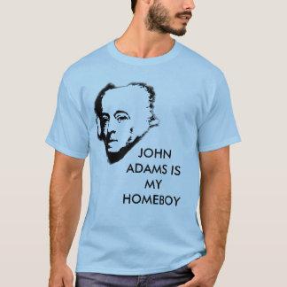 Camiseta John Adams é meu ficar em casa