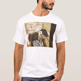 Camiseta John Brown Selfie/matéria preta das vidas