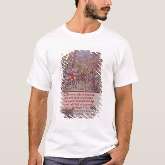 Camiseta John de magriço que está sendo recebido pelos
