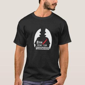 Camiseta John sabe suas senhas H@CK3R T (cabouqueiro T)