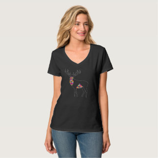 Camiseta Jóia geométrica do veado