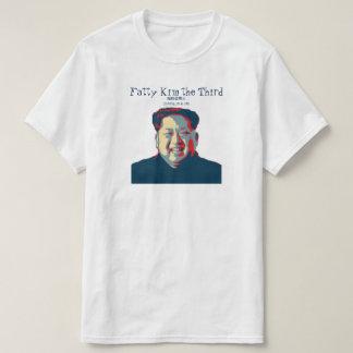 Camiseta Jong-un Kim gordo de Kim o terceiro 脂肪金第三