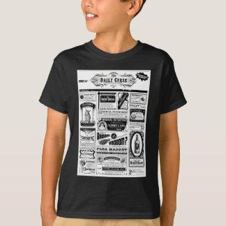 Camiseta jornal assustador