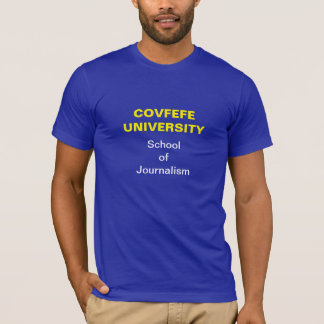 Camiseta Journalista de Covfefe: T-shirt (escuro)