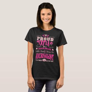 Camiseta Journalista orgulhoso da esposa comprado Tshirt do