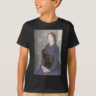 Camiseta Jovem mulher que guardara um gato preto - Gwen