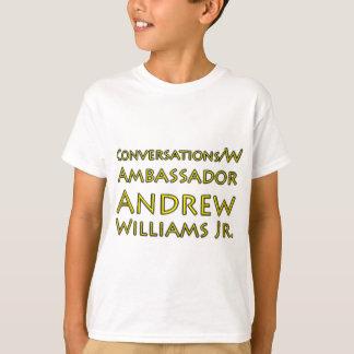 Camiseta Jr. das conversações w/Ambassador Andrew Williams