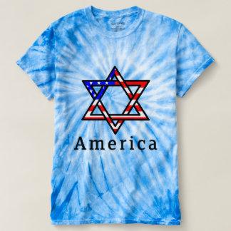 Camiseta Judaísmo da estrela de David de América! TSHIRT DO