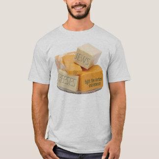 Camiseta Judeus para queijos - lute a intolerância à