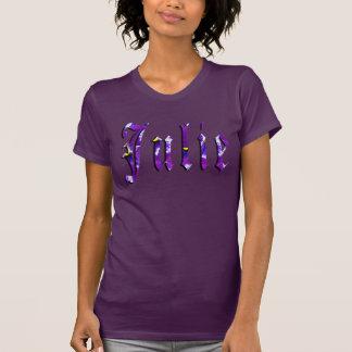 Camiseta Julie, nome, logotipo, t-shirt da cor da beringela