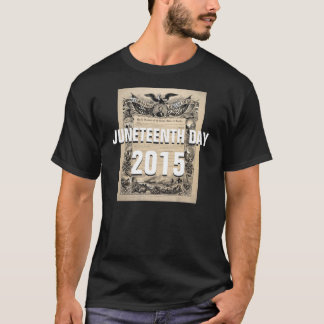 Camiseta Juneteenth dia 2015 costume tshirt 19 de junho de