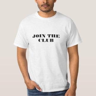 Camiseta Junte-se ao t-shirt do clube