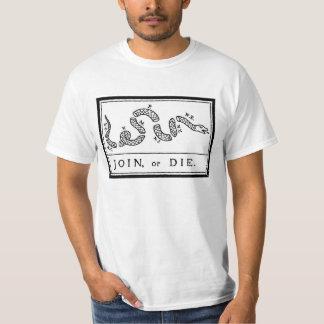 Camiseta Junte-se ou morra-se - Revolução Americana - B