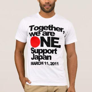 """Camiseta """"Junto nós somos UM. T de Japão do apoio"""""""