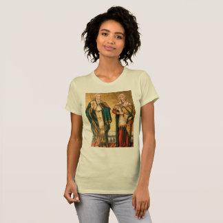 """Camiseta justa fem """"são cipriano e santa justina"""""""