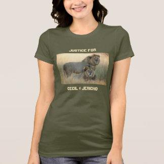 Camiseta Justiça para leões de Cecil & de irmão de Jericho
