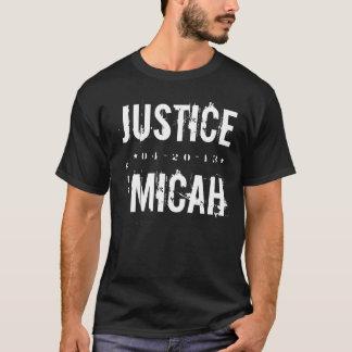 CAMISETA JUSTIÇA PARA O T-SHIRT DE MICAH