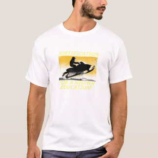 Camiseta Justificação para um Snowmobile T do ensino