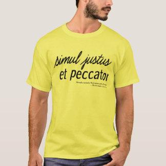 Camiseta Justificado e um pecador