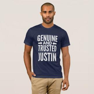 Camiseta Justin genuíno e confiado