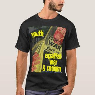 Camiseta Juventude contra a guerra e o t-shirt do racismo