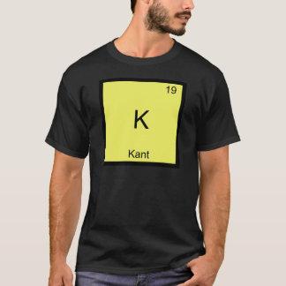 Camiseta K - T engraçado do símbolo da química do elemento