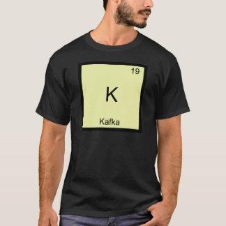 Camiseta K - T-shirt engraçado do símbolo do elemento da