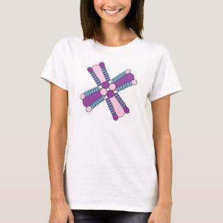 Camiseta kaleidoflower roxo & cor-de-rosa