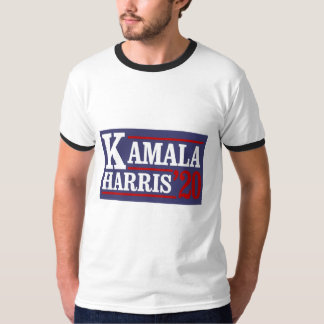 Camiseta Kamala Harris para o presidente em 20 - branco da