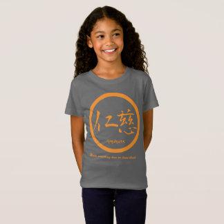 Camiseta Kamon japonês alaranjado • Kanji da bondade