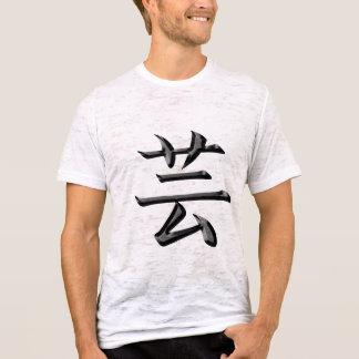 Camiseta Kanji preto do artista