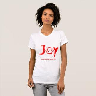 Camiseta Kanji vermelho da alegria dentro do círculo