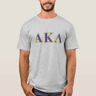 Camiseta Kappa alfa letras brancas e roxas do Lambda