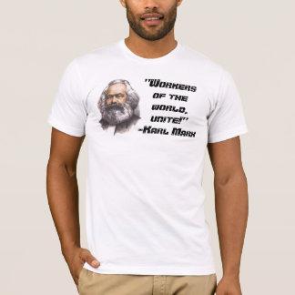 "Camiseta Karl Marx ""trabalhadores do mundo, une-se!"""