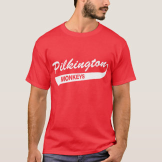 Camiseta Karl Pilkington Monkeys o t-shirt vermelho