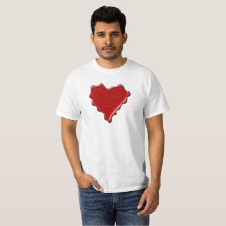 Camiseta Kathryn. Selo vermelho da cera do coração com
