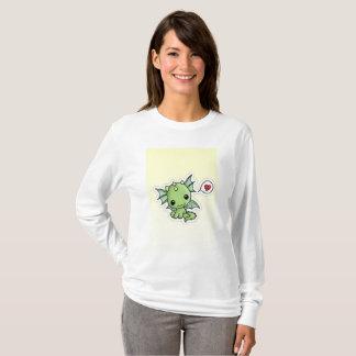 """Camiseta Kawaii de """"camisola da camisola do dragão pouco"""