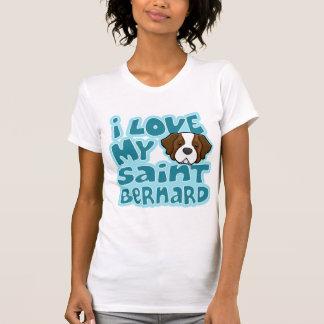 Camiseta Kawaii eu amo meu St Bernard