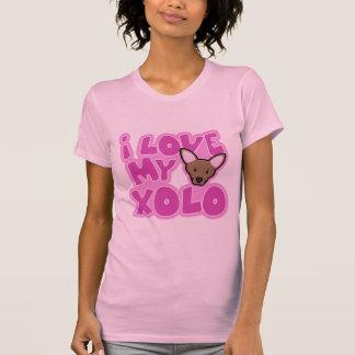 Camiseta Kawaii eu amo minhas senhoras de Xolo