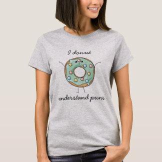 Camiseta Kawaii 'eu rosquinha compreendo chalaças