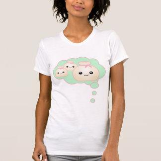 Camiseta Kawaii pensa bolinhas de massa