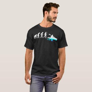 Camiseta Kayaker que Kayaking fora Tshirt da evolução